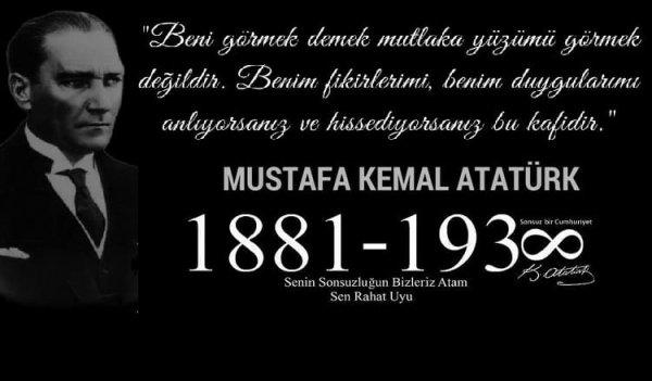 Mehmet Katırcıoğlu 10 Kasim Mesaji