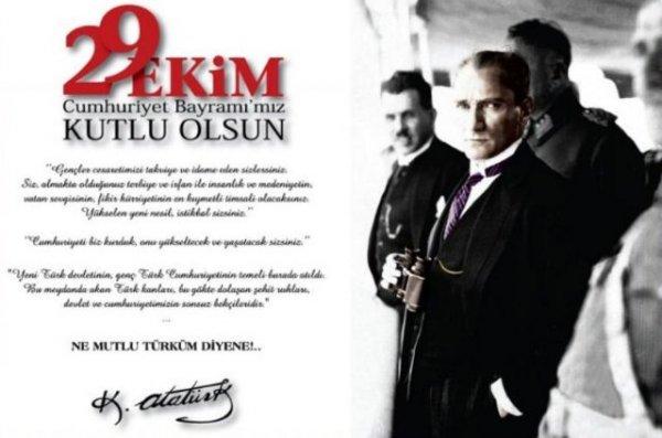Mehmet Katırcıoğlu nun 29 Ekim Cumhuriyet Bayramı Kutlama Mesajı